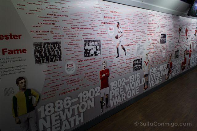 Inglaterra Manchester United Old Trafford Muro Historia Museo