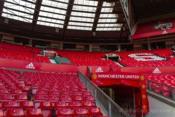 Inglaterra Manchester United Old Trafford Tunel Vestuarios