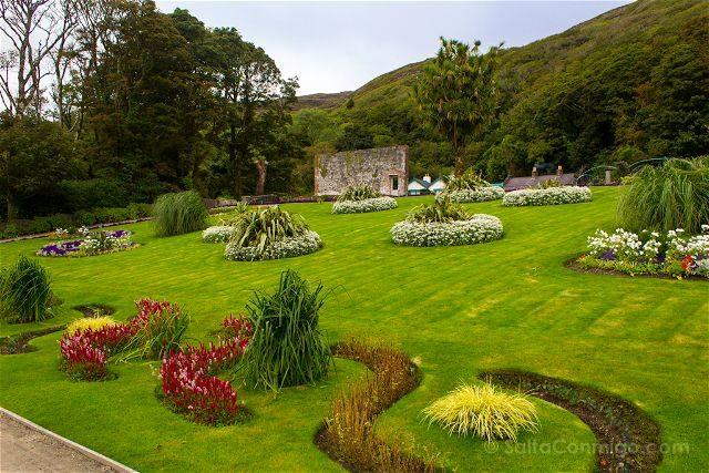 Irlanda Abadia Kylemore Jardin