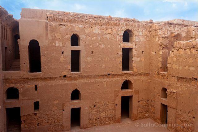 Jordania Castillos Desierto Qasr Kharana Patio Segunda Planta