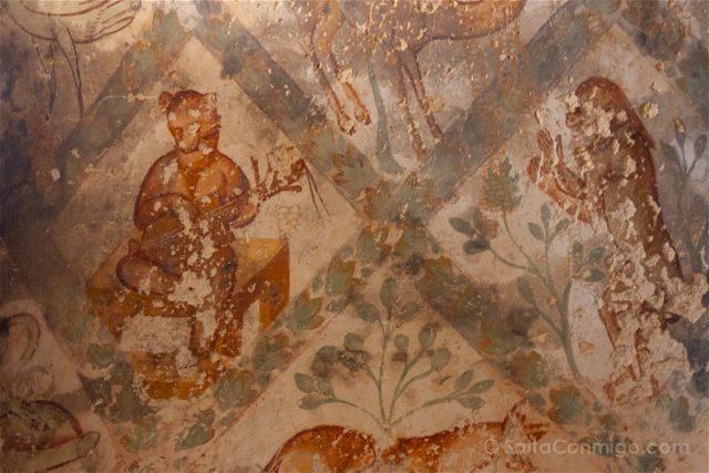 Jordania Castillos Desierto Qusair Amra Frescos Techo