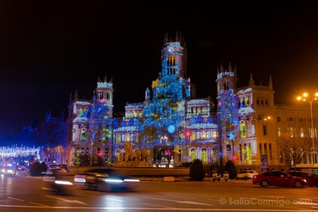 Luces Navidad Madrid Videomapping Cibeles