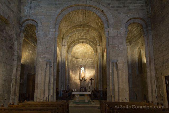Navarra Monasterio Leyre Interior Templo