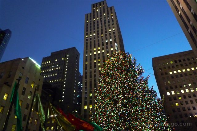 Nueva York Rockefeller Center Arbol