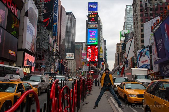 Nueva York Times Square Salto Dia