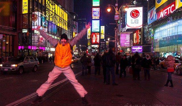 Nueva York Times Square Salto Noche