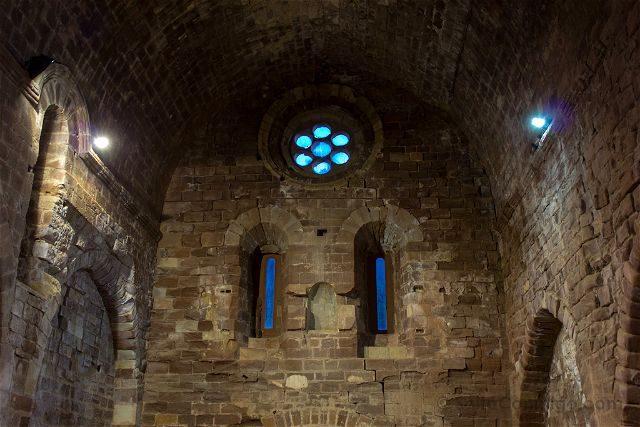 Tarragona Baix Camp Castillo Escornalbou Monasterio Interior Iglesia