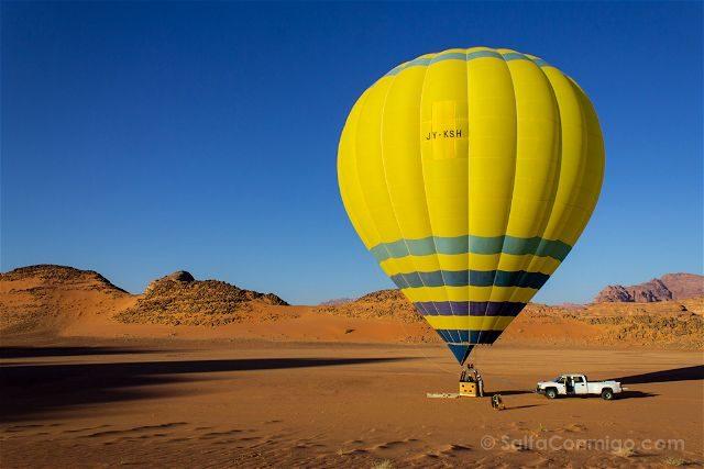 Jordania Desierto Rojo Wadi Rum Globo