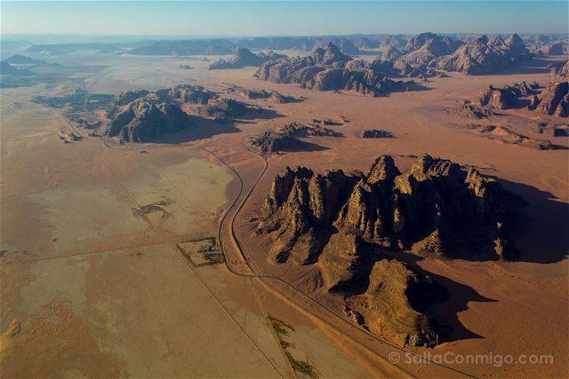 Jordania Desierto Rojo Wadi Rum Sobrevolando Globo