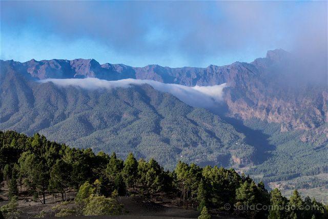 Canarias La Palma El Paso Mirador Llanos Jable Caldera Tabueriente