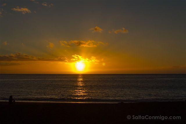 Canarias La Palma Tazacorte Puesta Sol