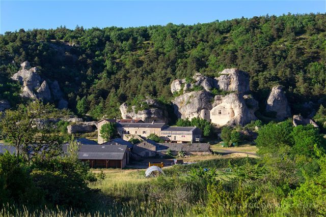 Francia Midi Pyrenees Aveyron Millau Les Baumes