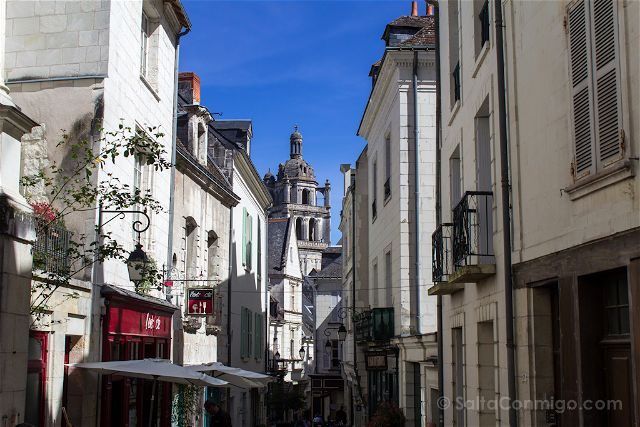 Francia Valle Loira Ciudadela Real Loches Calles