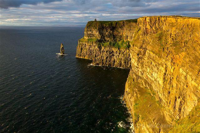 Irlanda Cliffs Acantilados Moher Puesta Sol