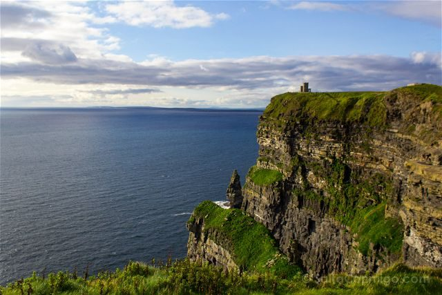 Irlanda Cliffs Acantilados Moher Torre O'Brien An Branan Mor Cerca
