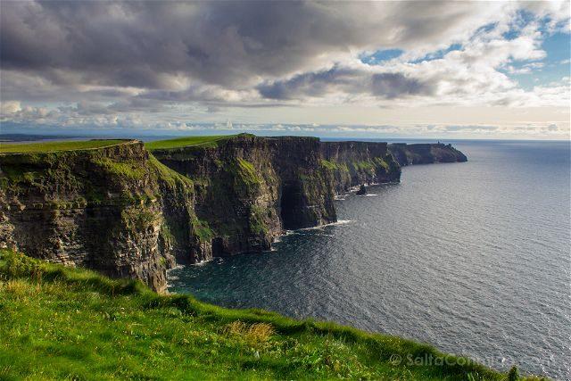 Irlanda Cliffs Acantilados Moher Vista Izquierda