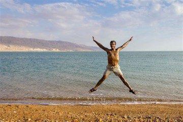Jordania Mar Muerto Barro Salto