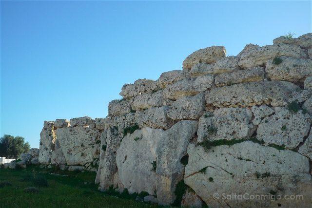 Malta Gozo Ggantija Templo Prehistorico