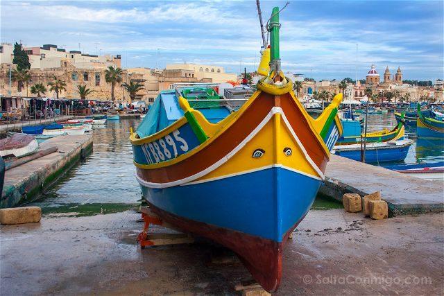 Malta Marsaxlokk Luzzu Barca