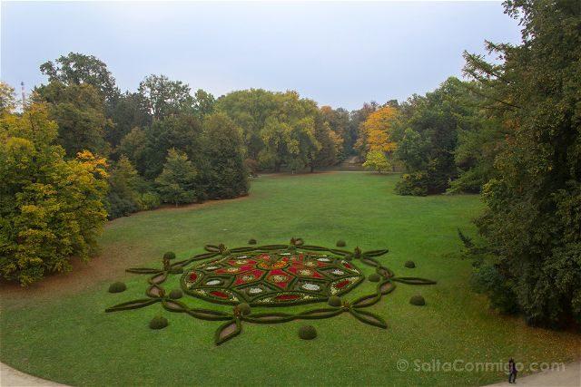 Republica Checa Kromeriz Palacio Arzobispal Jardin Debajo Castillo Podzamecka Zahrada