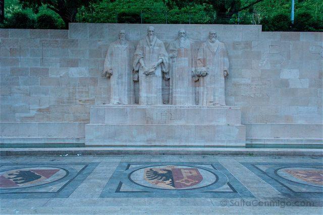 Suiza Ginebra Muro Reforma Parc des Bastions
