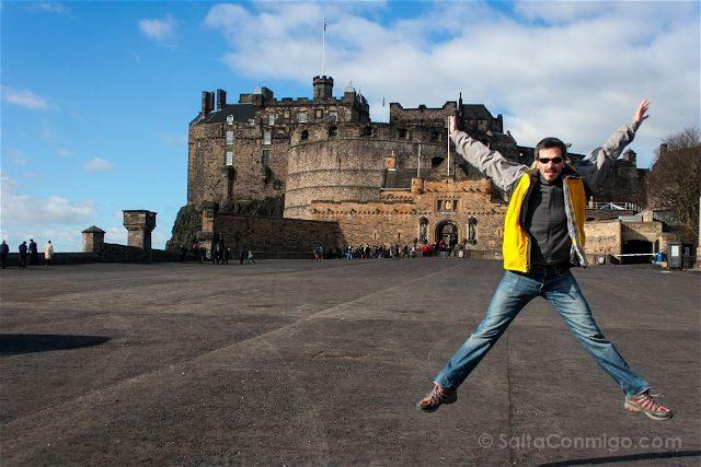 Escocia Edimburgo Castillo Salto