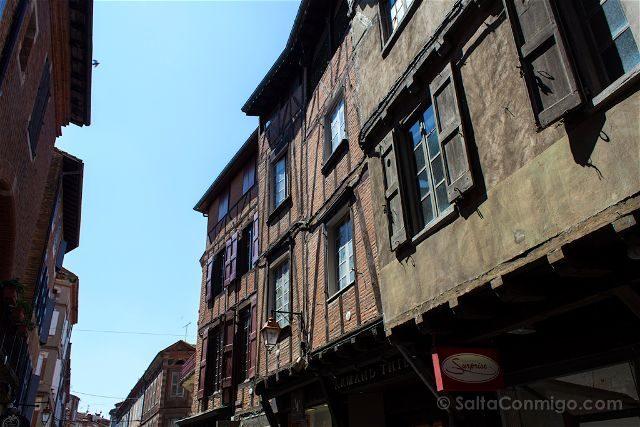 Francia Midi-Pyrenees Albi Casco Historico Casas