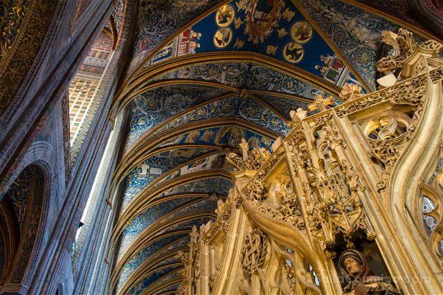 Francia Midi-Pyrenees Albi Catedral Santa Cecilia Interior Jube