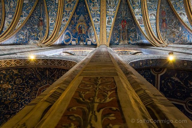 Francia Midi-Pyrenees Albi Catedral Santa Cecilia Interior Pinturas