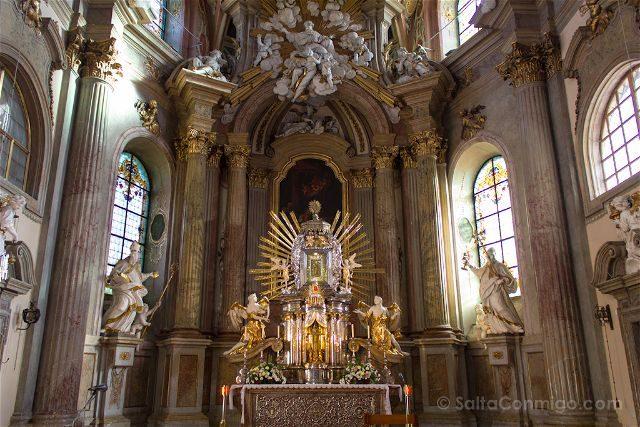 Republica Checa Olomouc Colina Santa Interior Altar