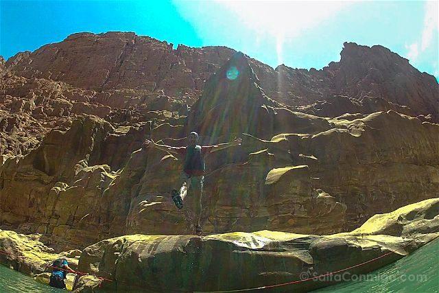 Jordania Wadi Mujib Barranquismo Canyoning Salto
