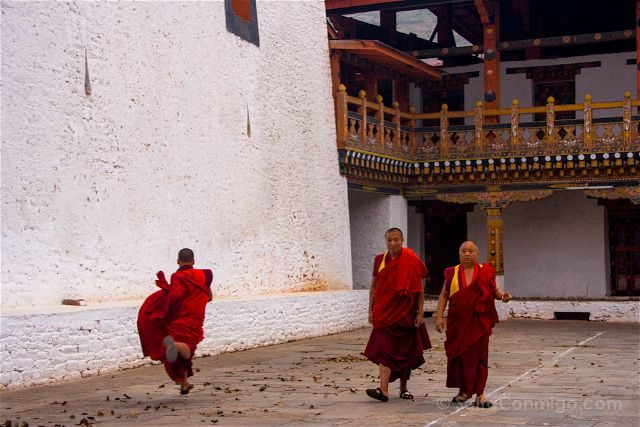 Butan Punakha Dzong Monjes