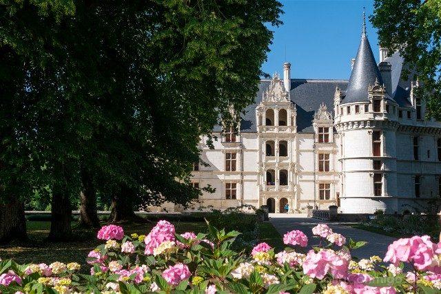 Castillo de Azay-le-Rideau Exterior Flores