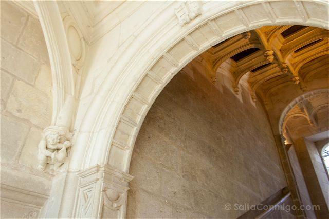 Francia Valle Loira Castillo Azay-le-Rideau Detalle Escalera