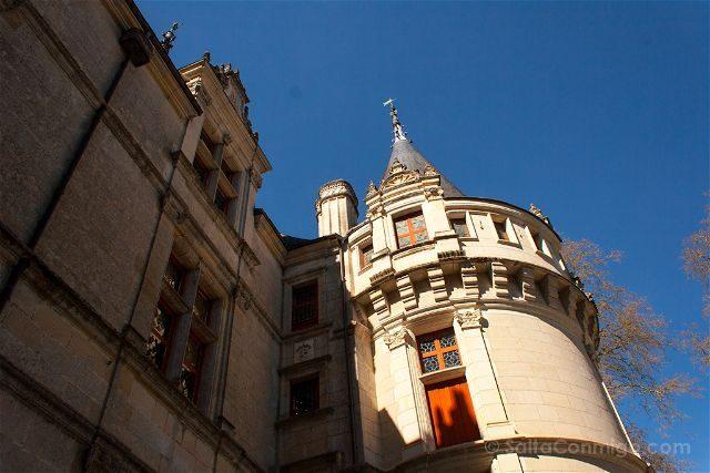 Francia Valle Loira Castillo Azay-le-Rideau Torre Detalle