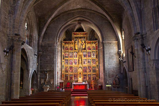 Navarra Olite Santa Maria Interior