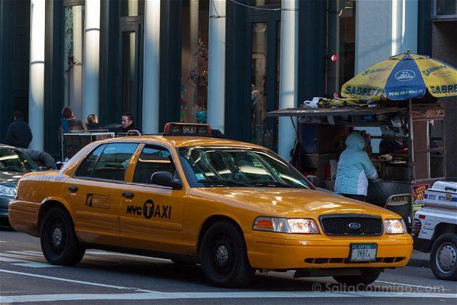 USA Nueva York Taxi Perrito Caliente