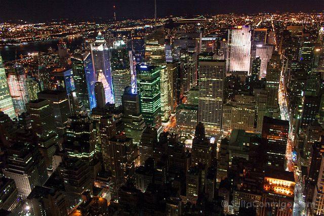 USA Nueva York Vista Empire State Nocturna