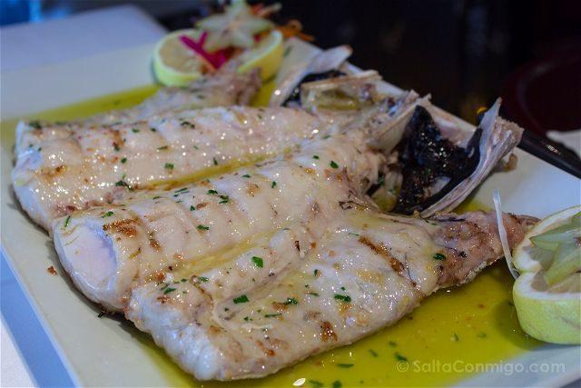 Bizkaia Costa Vasca Gastronomia Cogote Merluza Brasa