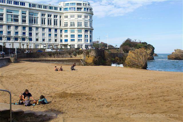 Francia Biarritz Playa Familia