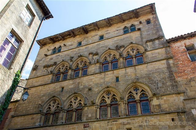 Francia Midi-Pyrenees Cordes-sur-ciel Fachada Gotica Maison Grand Veneur