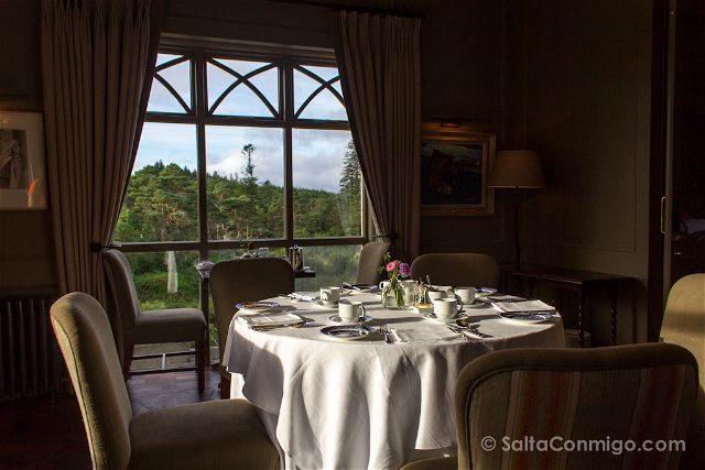 Irlanda Dormir Ballynahinch Castle Hotel Restaurante