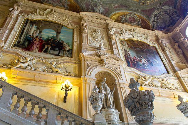 Italia Turin Palacio Real Escalera