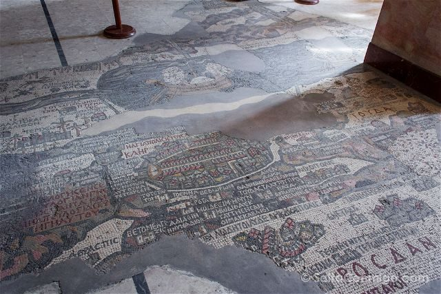 Jordania Madaba Iglesia San Jorge Mapa Mosaico