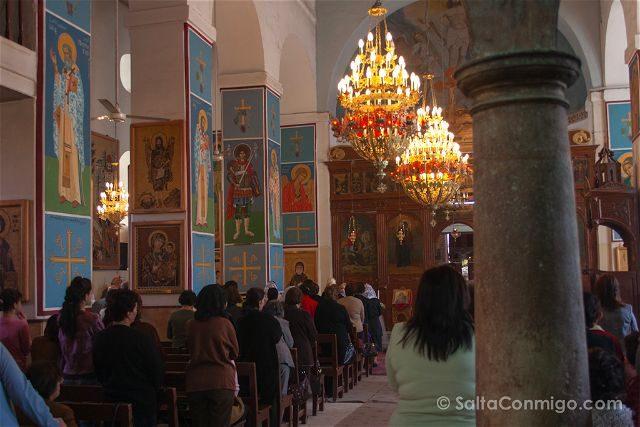 Jordania Madaba Iglesia San Jorge Misa
