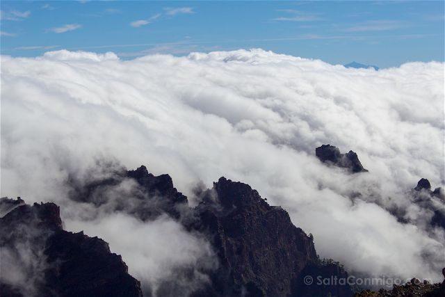 La Palma Ruta Senderismo Trekking Roque Muchachos Mar Nubes