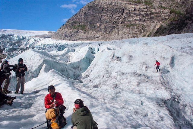 Noruega Jostedalsbreen Glaciar Descanso