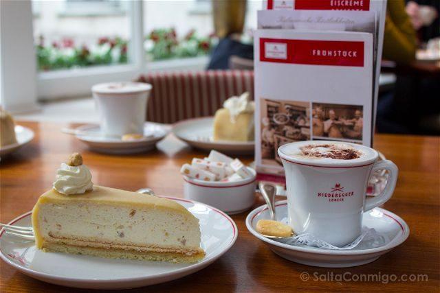 Alemania Lubeck Cafe Niederegger Nusstorte