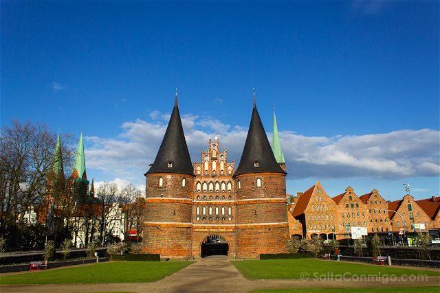 Alemania Lübeck Holstentor Dia