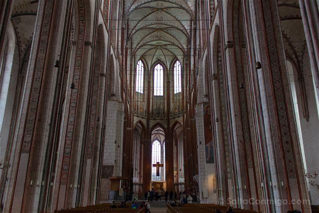 Alemania Lübeck Santa Maria Interior